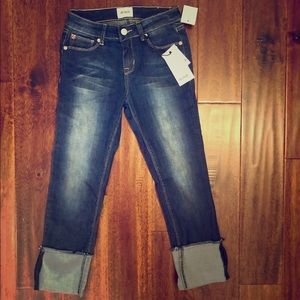 Hudson kids skinny crop super stretch jeans NWT 12